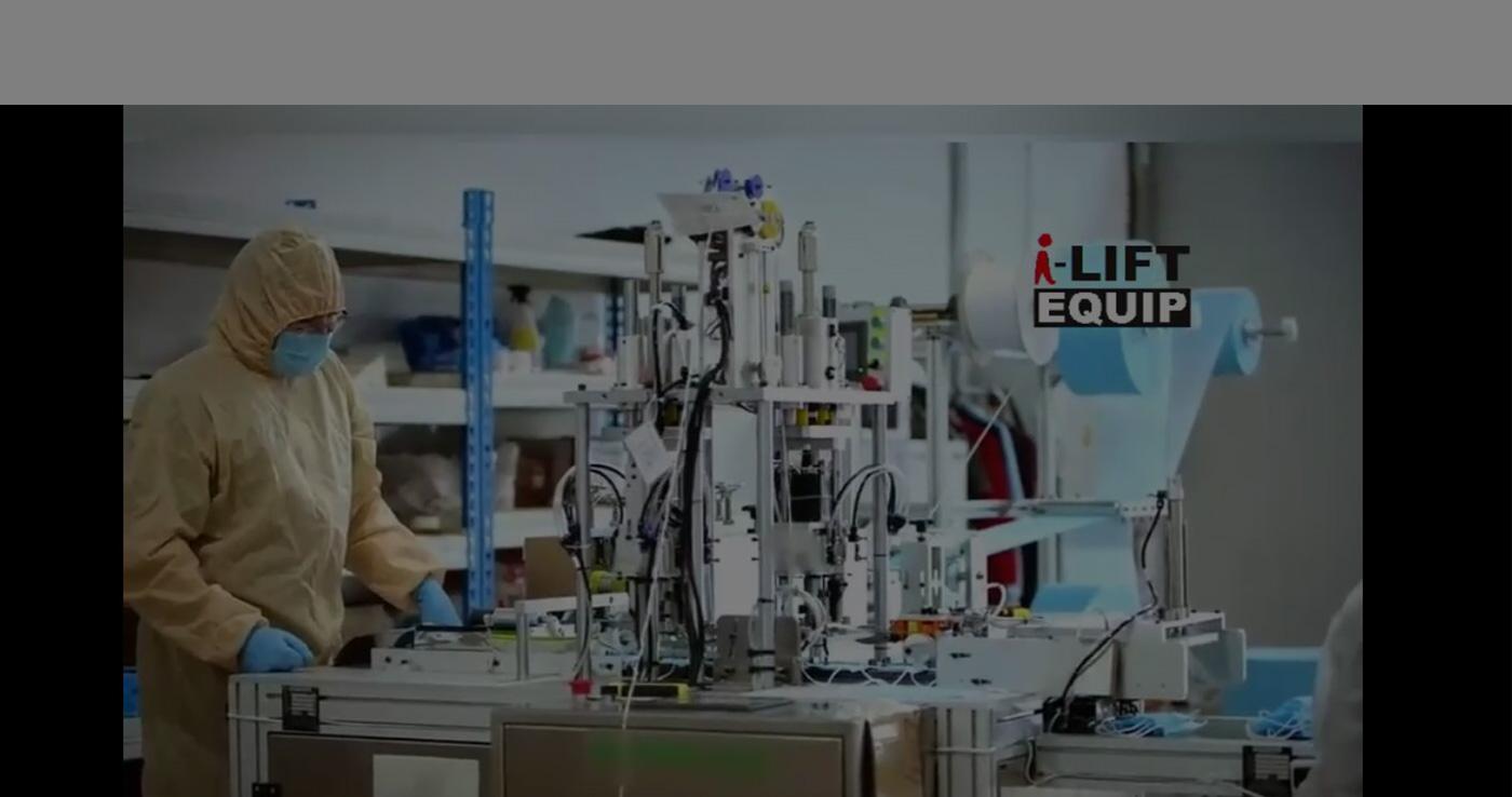 MÁQUINA DE FABRICAÇÃO DE MÁSCARA AUTOMÁTICA DE PROJETO TURN-KEY